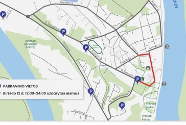 Šeštadienį Birštone bus draudžiamas automobilių eismas nuo J. Basanavičiaus aikštės iki turizmo informacijos centro
