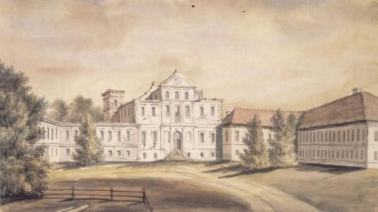 Pacų rūmai Jiezne (piešinys)