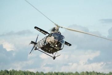 Pociūnų aerodrome – laisvas lietuviško sraigtasparnio VR-555 skrydis