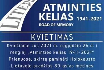 """""""Atminties kelio"""" eisenos dalyviai paminės Prienų krašto žydų bendruomenių sunaikinimo 80 – metį"""