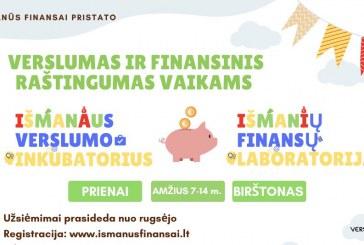 Verslumo ir finansinio raštingumo užsiėmimai vaikams