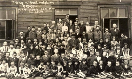 Prienų pradžios mokykla Nr.2  1932-33 mokslo metai.