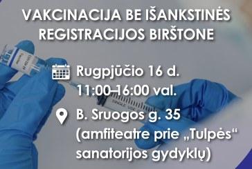 NKC vakcinacijos turas Birštone